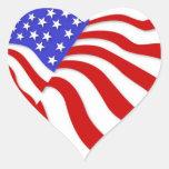Pegatinas--Bandera del corazón Pegatinas Corazon