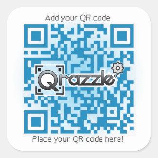Pegatinas básicos del código de QR Pegatina Cuadrada