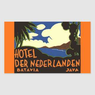 Pegatinas Batavia Jakarta Indonesia del viaje del Rectangular Pegatina
