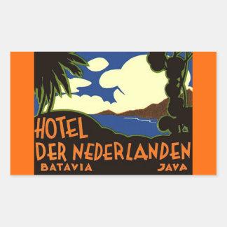 Pegatinas Batavia Jakarta Indonesia del viaje del Pegatina Rectangular