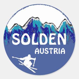 Pegatinas blancos azules del logotipo del esquí de