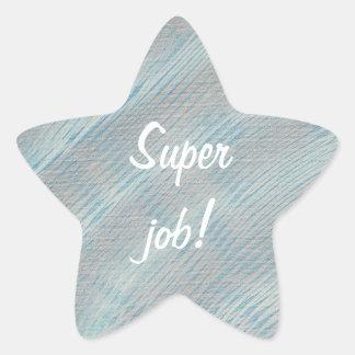 Pegatinas blancos azules y de plata del trabajo pegatina en forma de estrella