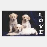 Pegatinas blancos del perro de perrito del rectangular altavoces
