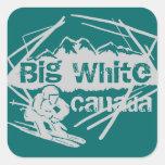 Pegatinas blancos grandes del trullo del esquí de