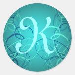 Pegatinas bonitos de las cintas azules del trullo