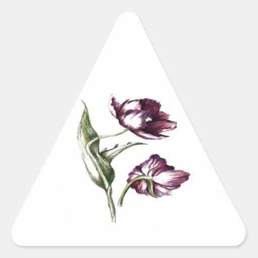 Pegatinas botánicos de la flor scarpbooking