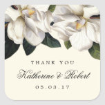 Pegatinas botánicos del favor del boda de la pegatina cuadrada