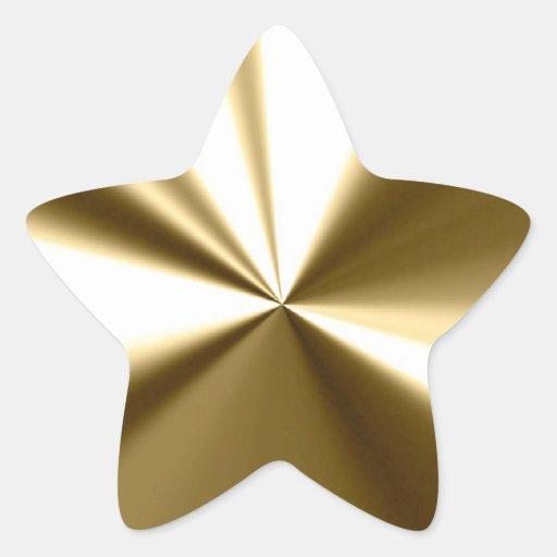 Pegatinas brillantes de la estrella del oro pegatinas forma de estrella