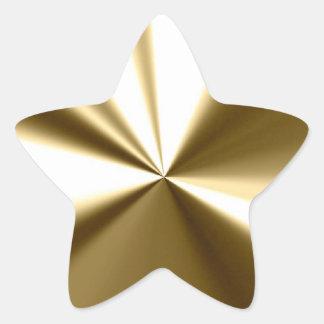 Pegatinas brillantes de la estrella del oro pegatina en forma de estrella
