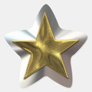 Pegatinas brillantes de la estrella del oro y de calcomania forma de estrella