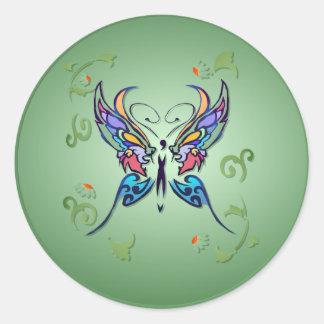 Pegatinas brillantes de la mariposa