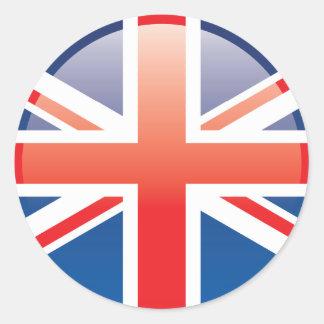 Pegatinas británicos #2 de la bandera pegatina redonda