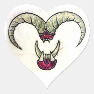 Pegatinas brutales del amor pegatina en forma de corazón