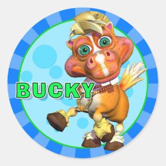 Pegatinas Bucky de la diversión Pegatina Redonda