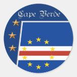 Pegatinas caboverdianos de la bandera
