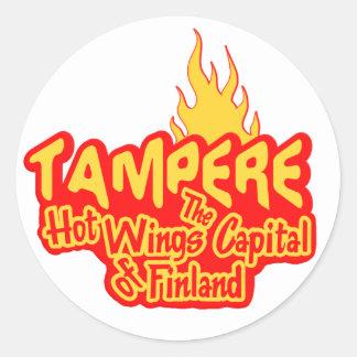 Pegatinas calientes de las alas de Tampere Pegatina Redonda