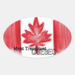 Pegatinas canadienses de la bandera de Mont Colcomanias Ovaladas