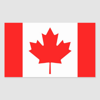 Pegatinas canadienses de la etiqueta de la bandera