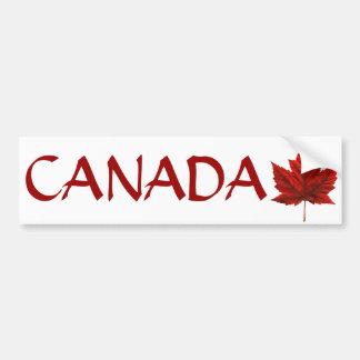 Pegatinas canadienses de la hoja de arce de la peg etiqueta de parachoque