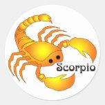 Pegatinas caprichosos del escorpión pegatina redonda