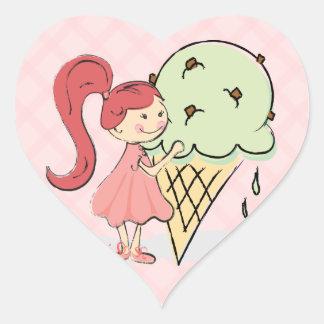 Pegatinas caprichosos del helado