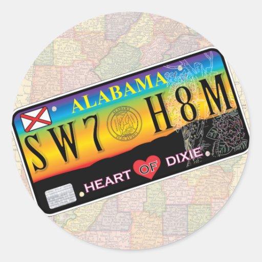 Pegatinas caseros dulces de Alabama (series del Pegatinas Redondas