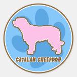 Pegatinas catalanes de moda del perro pastor etiqueta redonda