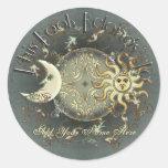 Pegatinas celestiales del Bookplate de Sun y de la Pegatina Redonda
