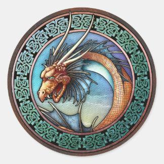 Pegatinas célticos del dragón del arte
