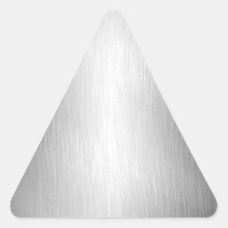 Pegatinas cepillados de la mirada del metal pegatina triangular