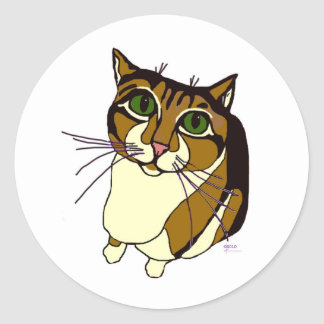 Pegatinas chillones del gato pegatinas redondas