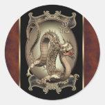 Pegatinas chinos del dragón del vintage