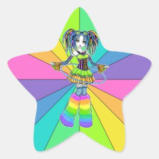 Pegatinas cibernéticos de Fae del aro de Hula del Calcomania Forma De Estrella Personalizada