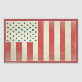 Pegatinas civiles americanos del vintage de la rectangular pegatina