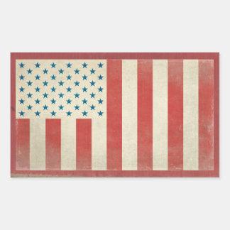 Pegatinas civiles americanos del vintage de la pegatina rectangular