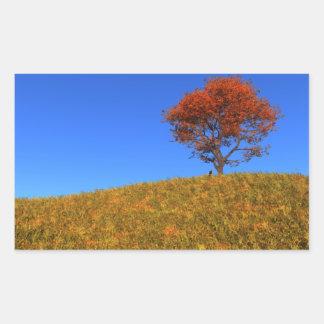 Pegatinas claros del día del otoño pegatina rectangular