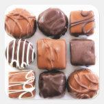 Pegatinas clasificados de los chocolates