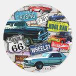 Pegatinas - coches de la ruta 66_Classic