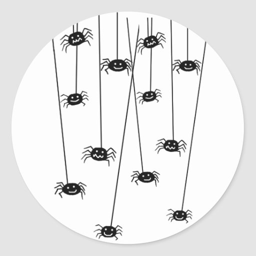 Pegatinas colgantes de las arañas pegatina redonda