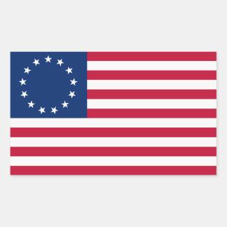 Pegatinas coloniales de la bandera americana rectangular altavoces