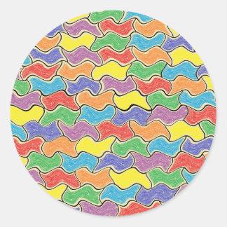 Pegatinas coloridos de las fluctuaciones
