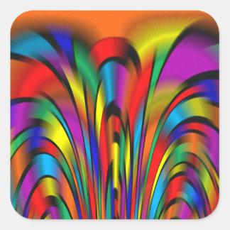 Pegatinas coloridos de una integración colcomanias cuadradases