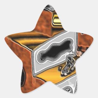 Pegatinas con arte surrealista metálico pegatina en forma de estrella