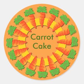 Pegatinas con las fronteras de la zanahoria pegatina redonda