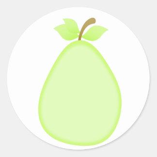 Pegatinas con sabor a fruta de la pera pegatina redonda