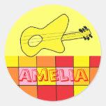Pegatinas conocidos de Amelia Etiquetas Redondas