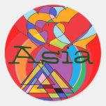 Pegatinas conocidos de Asia