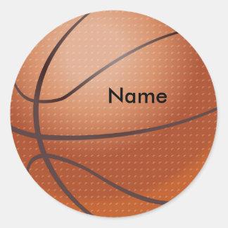 Pegatinas conocidos de encargo del baloncesto pegatinas redondas