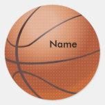 Pegatinas conocidos de encargo del baloncesto pegatina redonda