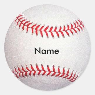 Pegatinas conocidos de encargo del béisbol pegatinas redondas